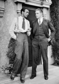 Gary Cooper in high waist and Franklin Delano Roosevelt Jr