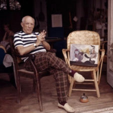 Pablo Picasso, loafers, high waisted trousers