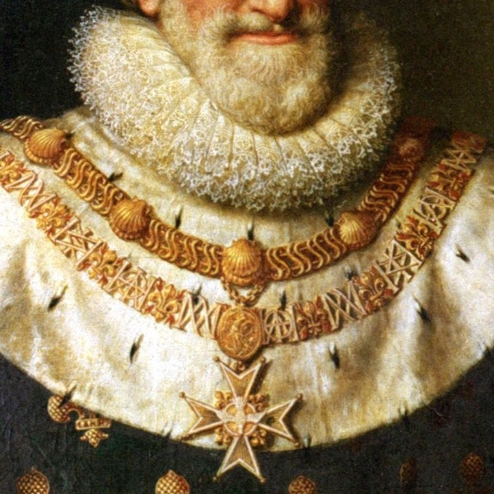 Portrait of the french king Henri IV, by Frans Pourbus