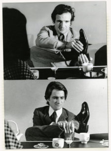 François Truffaut and Jean-Pierre Léaud, Bed and Board set, 1970