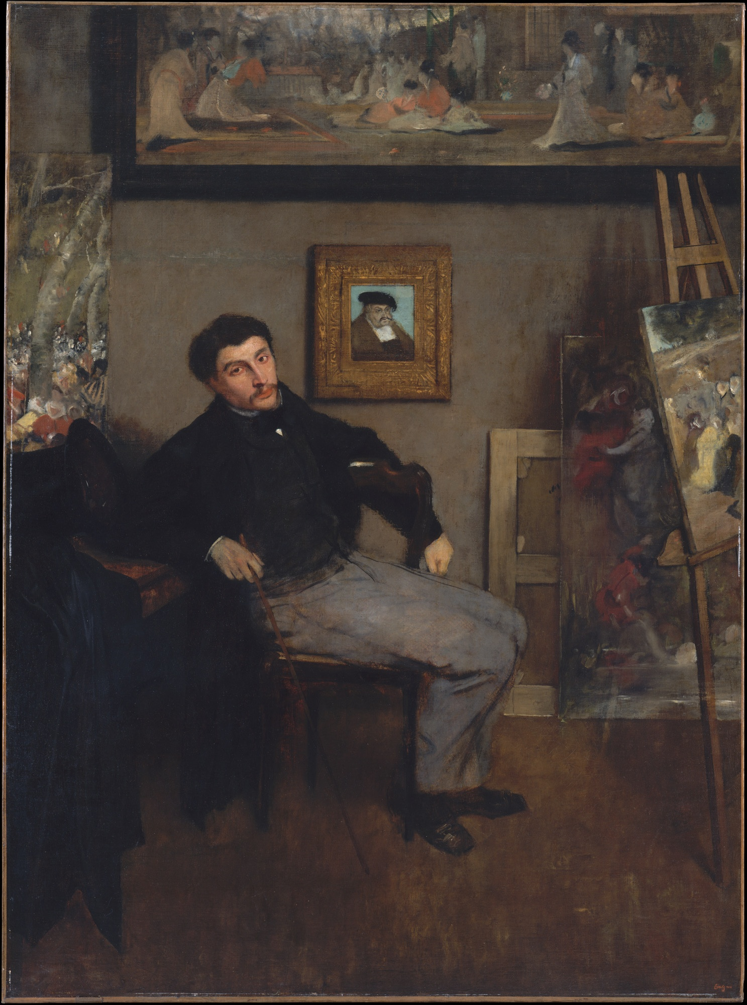 Edgar Degas, portrait de James Tissot, 1867-1869, NY The Metropolitan Muséum of Art