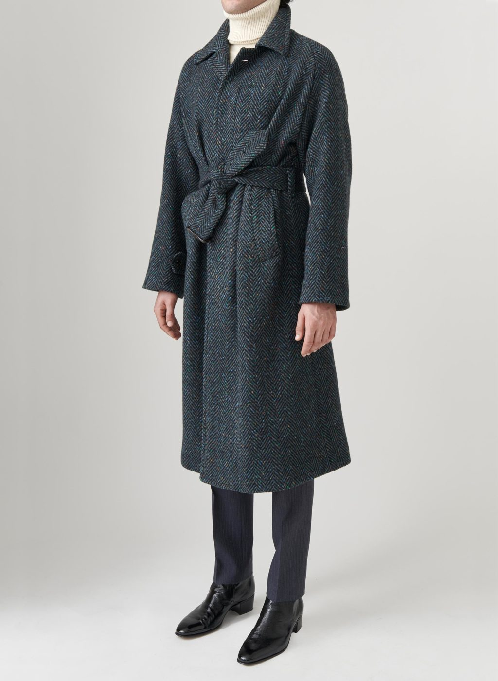 straight raglan wool coat