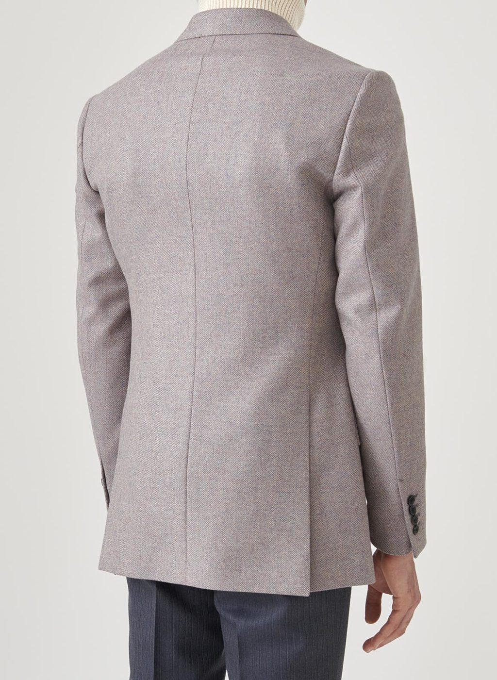 double-breasted jacket in slecked lavender