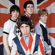 Les Who et leur chanteur peter Townshend en Union Jack jacket, 20 mars 1966