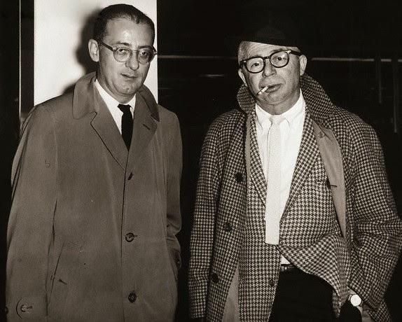 Billy Wilder et I.A.L Diamond, New York city, 1963
